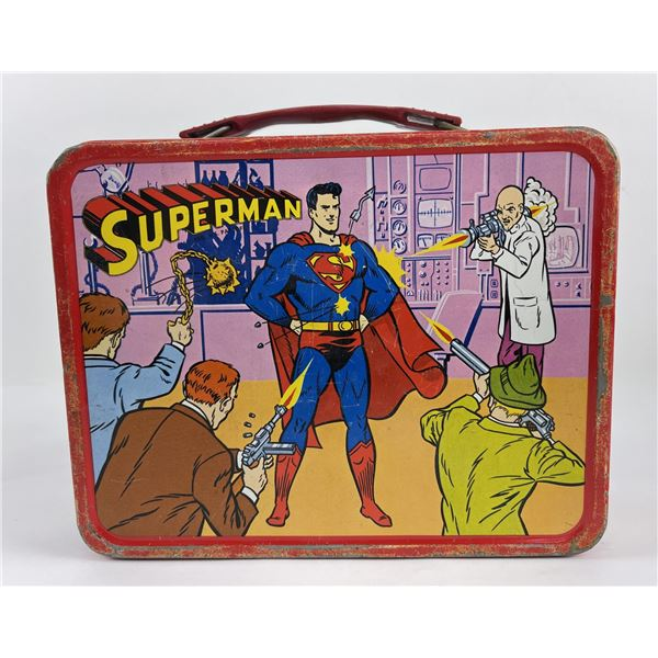 Superman National Periodical Thermos Lunch Box