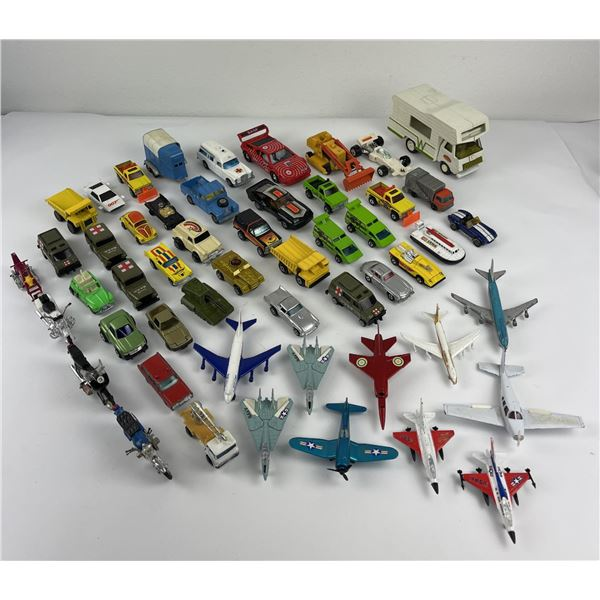 Lot of Vintage Hot Wheels Toy Cars Planes