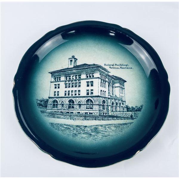 Antique Federal Building Helena Montana Plate
