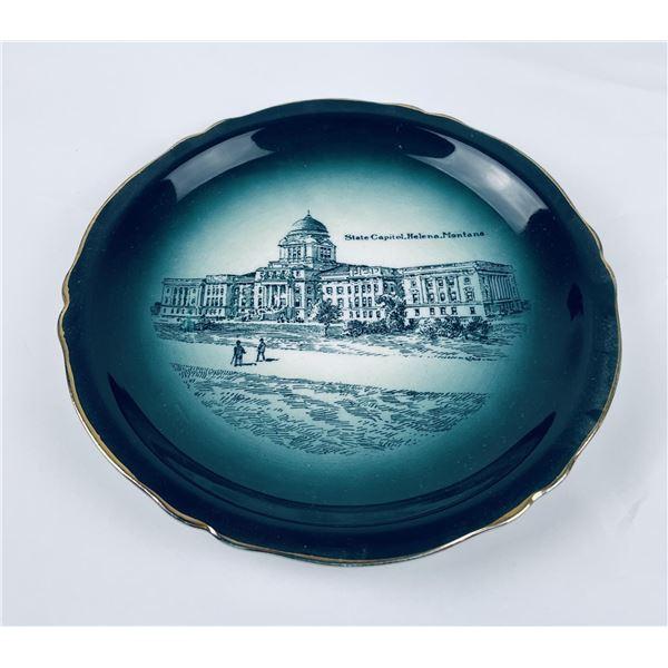 Antique Capitol Building Helena Montana Plate