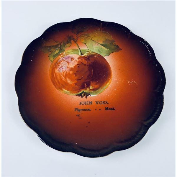 Antique John Voss Florence Montana Adverting Plate