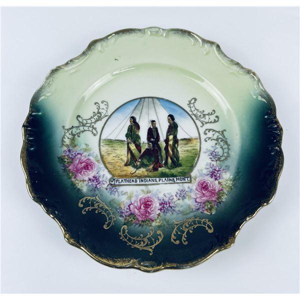 Flathead Indians Plains Montana Plate