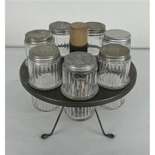 Sellars Hoosier Cabinet Spice Jar Rack w/ Stand