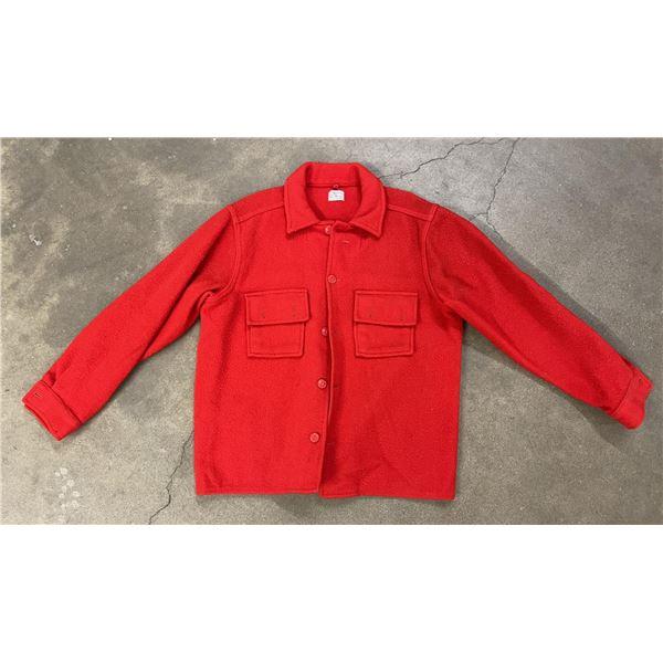 Red Mackinaw Wool Minnesota Woolen Mills Jacket