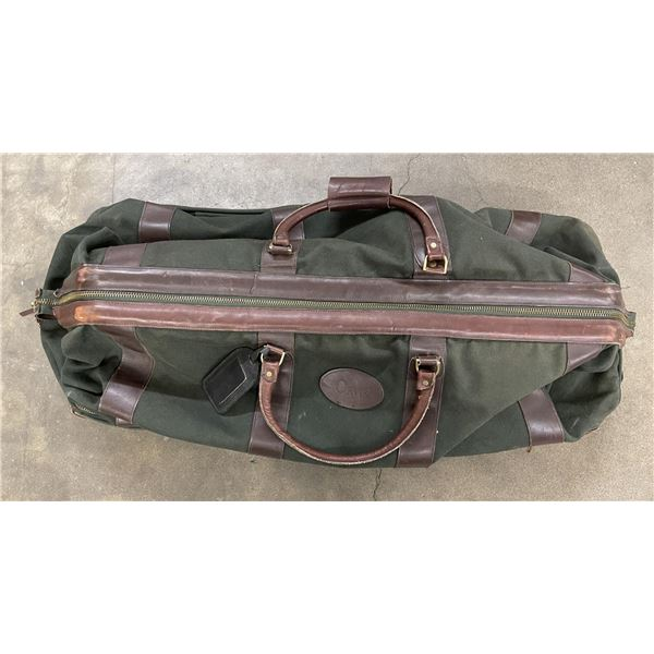 """Orvis Leather and Canvas Rolling Luggage Bag 36"""""""