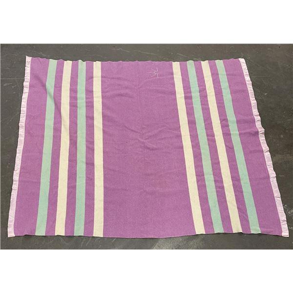 Baron Woolen Mills Utah Pink Trade Blanket