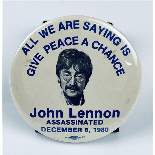 Vintage John Lennon Assassination Button