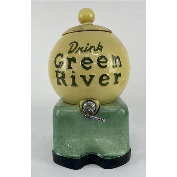 Antique Green River Soda Fountain Syrup Dispenser