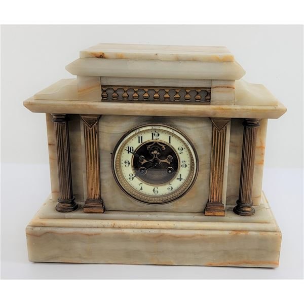 Jean Vincenti French Marble Mantle Clock