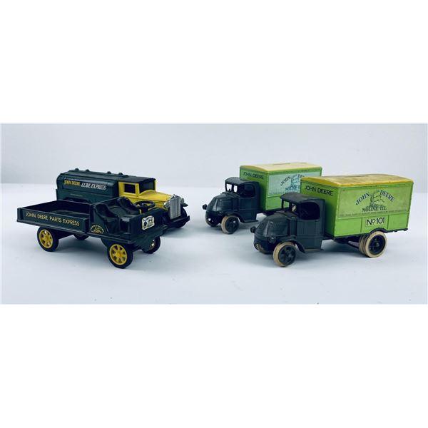 Lot of 4 John Deere Die Cast Truck Banks