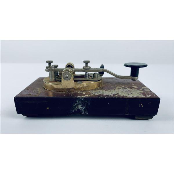 Antique Montana Railroad Telegraph Key