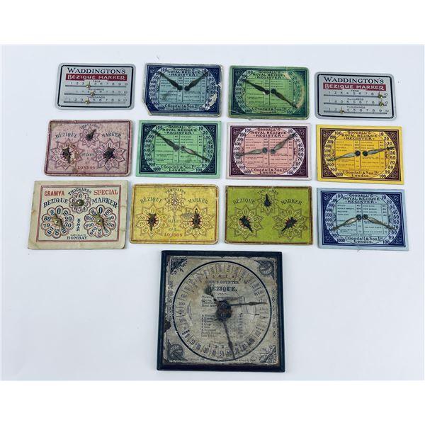 Lot of Antique Bezique Register Marker Cards