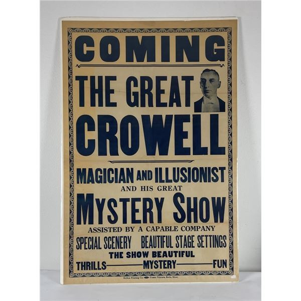 The Great Crowell Montana Magician Poster