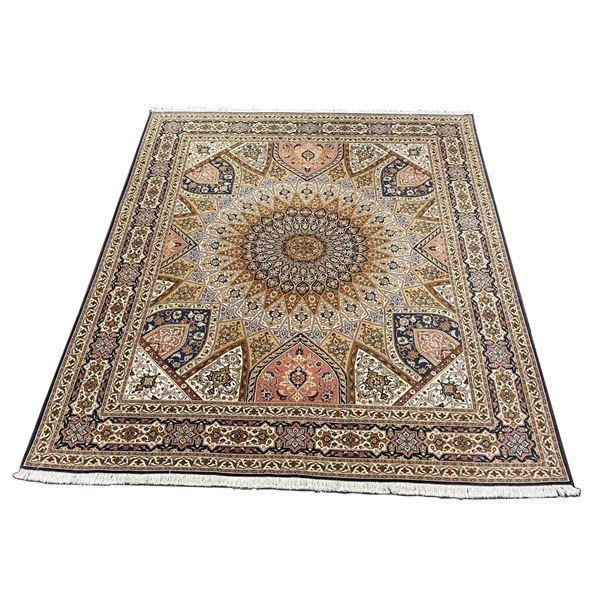 Phenomenal Tabriz Silk Wool Room Size Rug