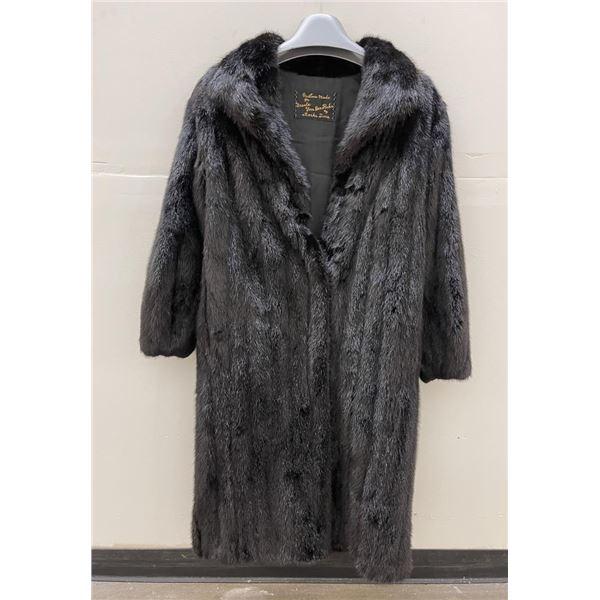 Stunning Full Length Black Mink Fur Coat