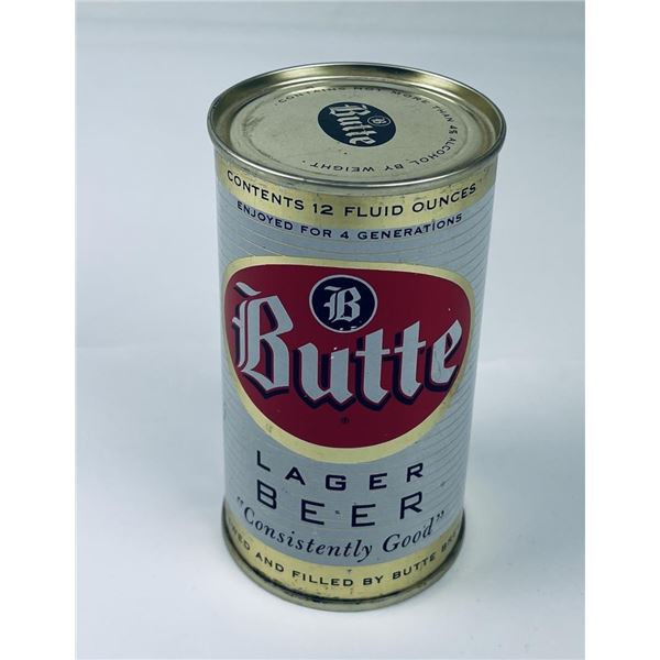 Butte Lager Flat Top Montana Beer Can