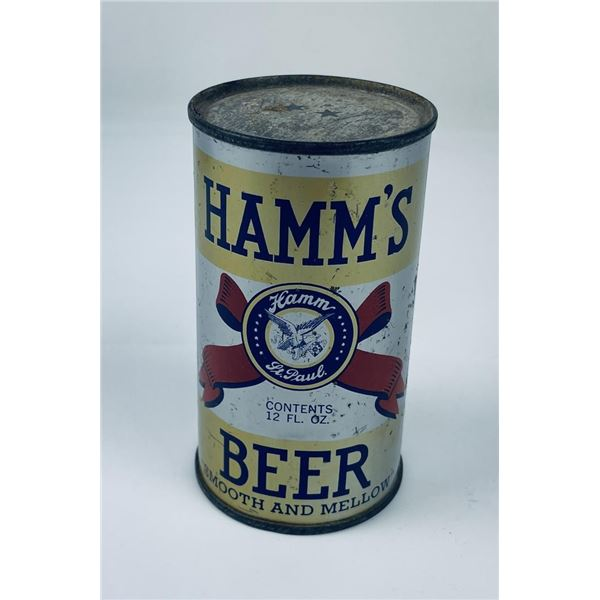 Hamms Opening Instruction Beer Can