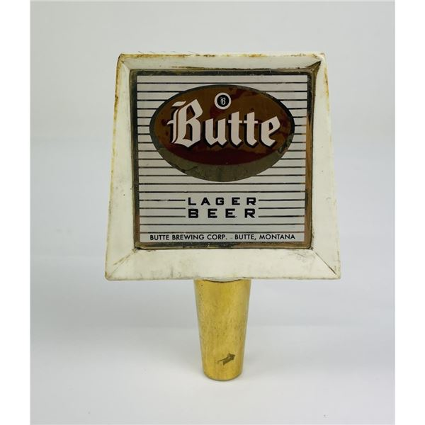 Butte Lager Beer Tap Handle Glass Insert