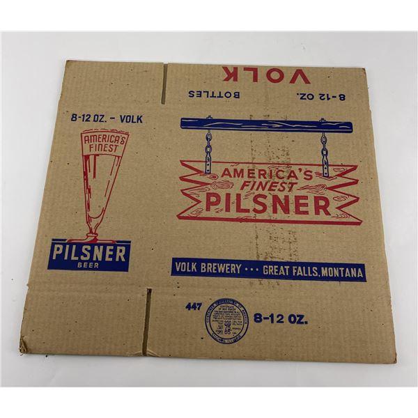 Unused Volk Pilsner Beer Box Great Falls Montana