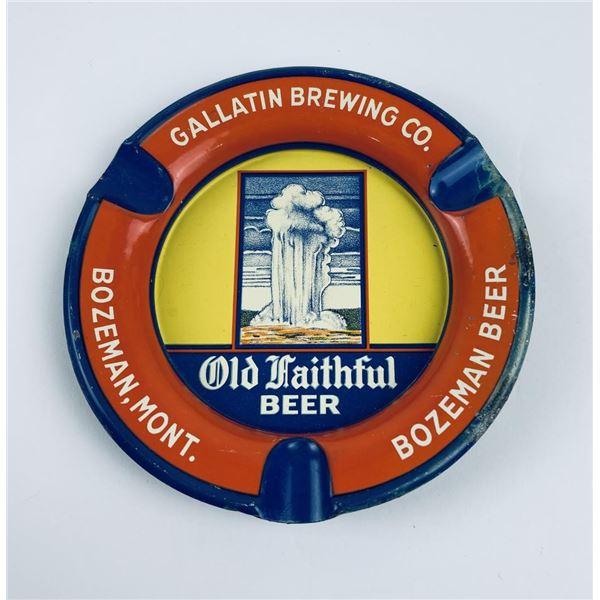 Old Faithful Beer Bozeman Montana Ashtray