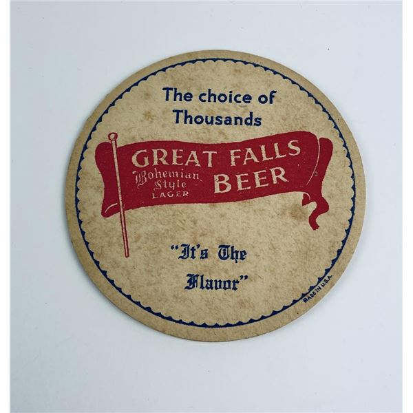 Great Falls Lager Montana Beer Coaster