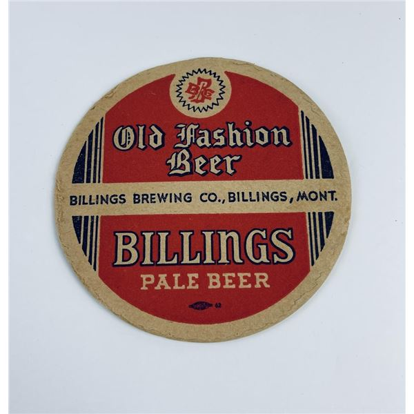 Old Fashion Billings Montana Beer Coaster