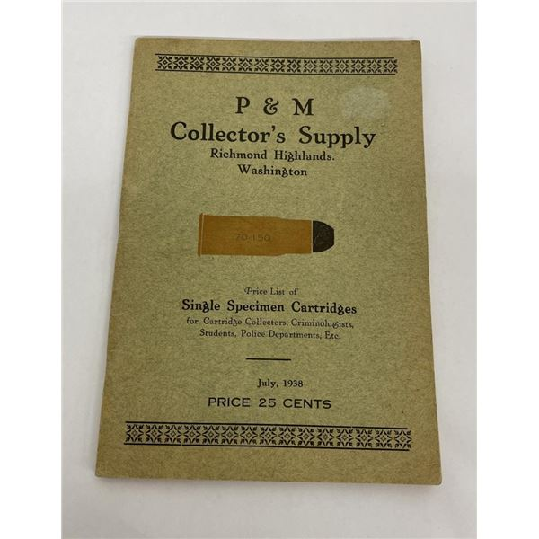 P&M Collector's Supply Cartridge Book 1938