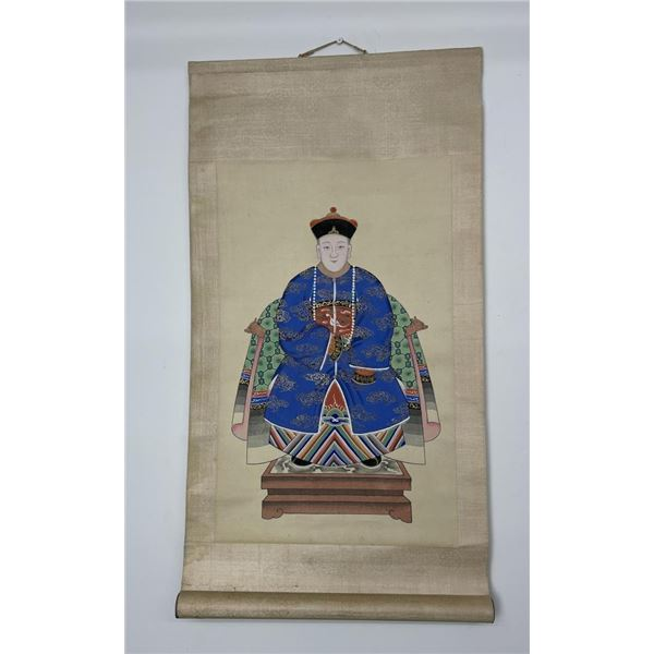 Antique Chinese Painted Hanging Scroll