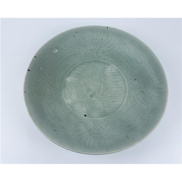 16th Century Chinese Celadon Swatow Charger