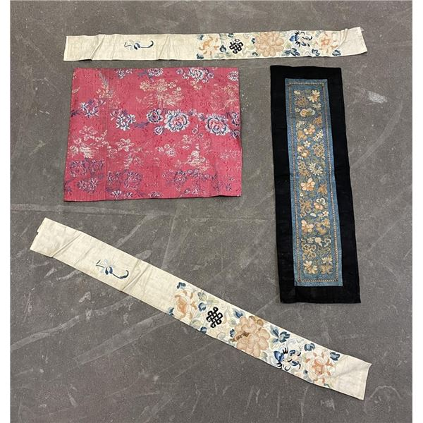 Lot of Antique Silk Chinese Robe Fragments