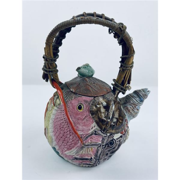 Sumida Banko Japanese Pottery Teapot