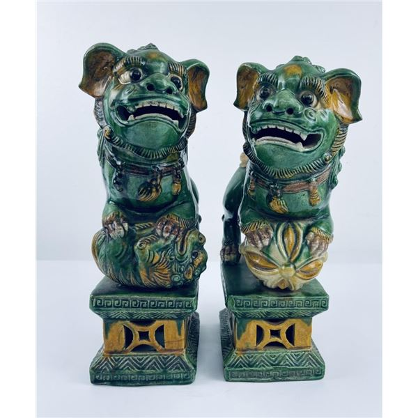Chinese 1860-1880 Foo Lion Architectural Toppers
