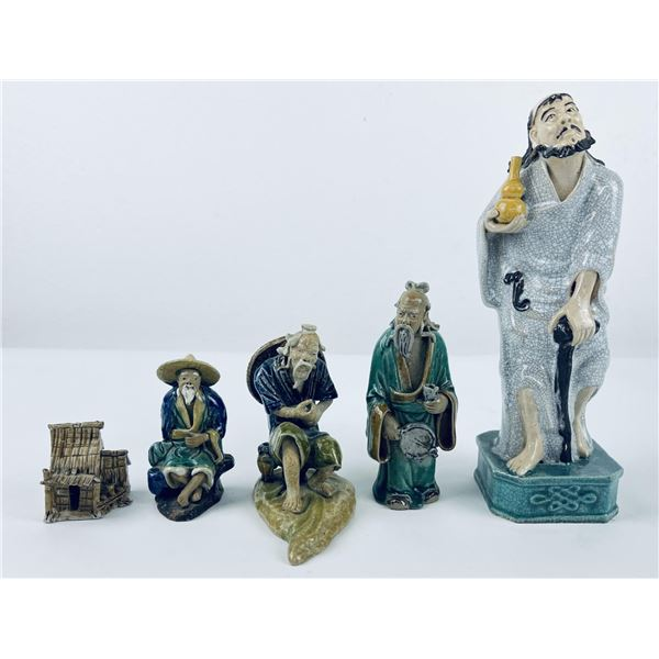 Lot of Chinese Mud Men Figures