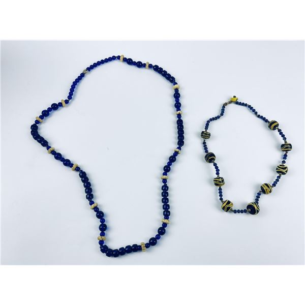 Pair of Indian Trade Bead Necklaces