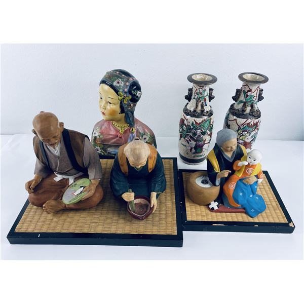 Lot of Japanese Ceramics and Dolls