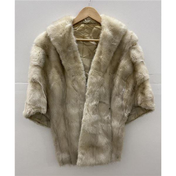 White Mink Fur Coat Shawl
