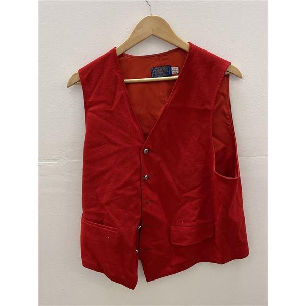 Vintage Pendleton Red Wool Vest