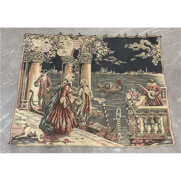 Antique Venice Italian Hanging Tapestry
