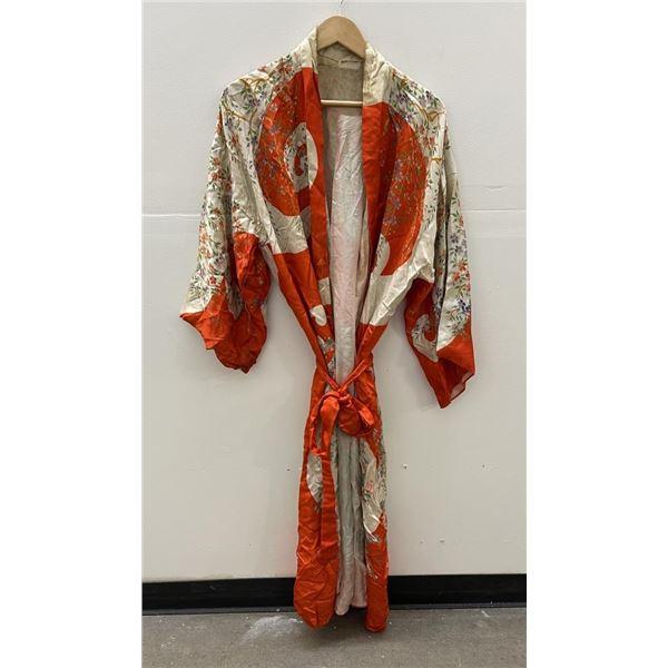 Vintage Japanese Silk Kimono Robe