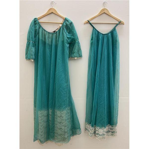 Vintage Sheer Lingerie Nightgown Set
