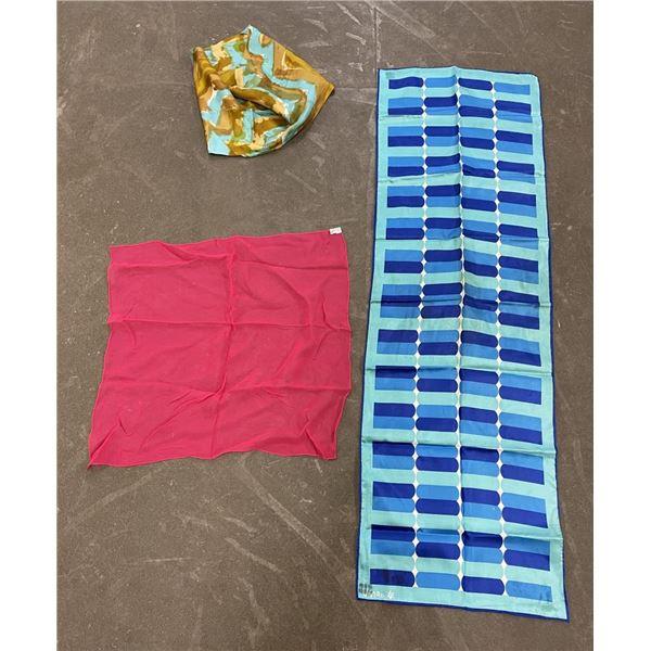 Lot of 3 Vintage Silk Scarves Vera Wang