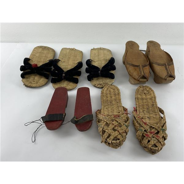 Group of Antique Asian Ethnic Shoes