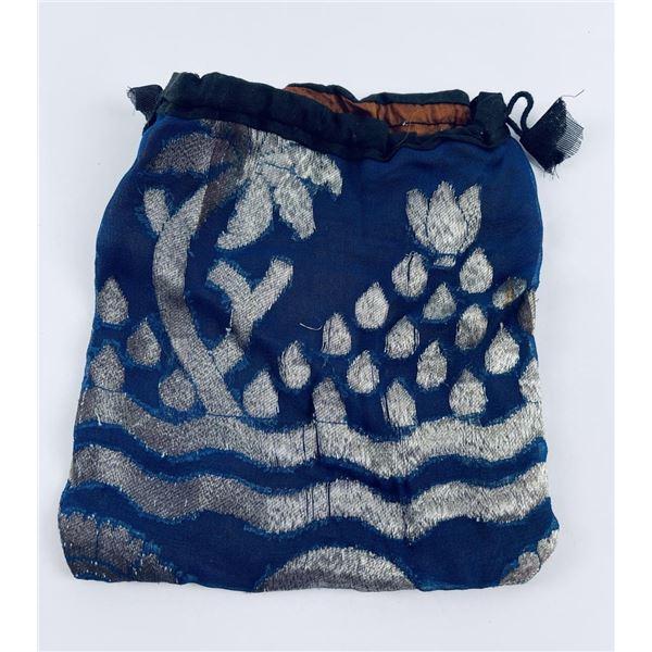 Antique Chinese Silk Drawstring Bag