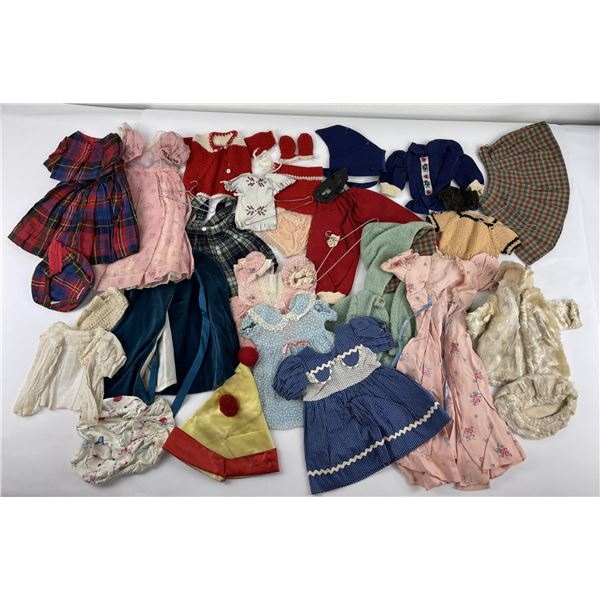 Lot of Vintage Baby Doll Clothes