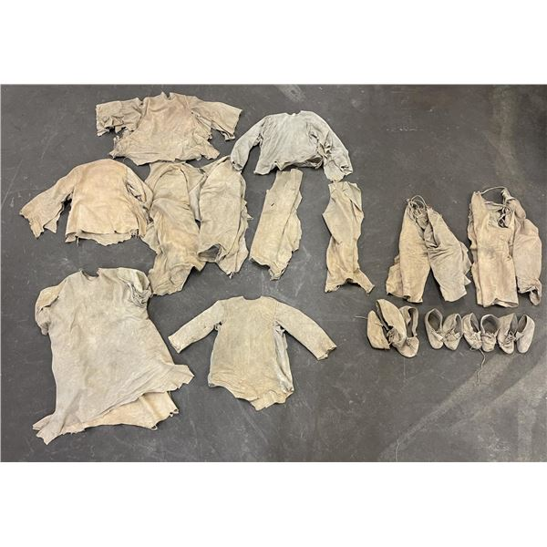 Large Grouping of Montana Indian Leather Clothing