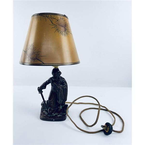 Vintage Spelter Pirate Lamp