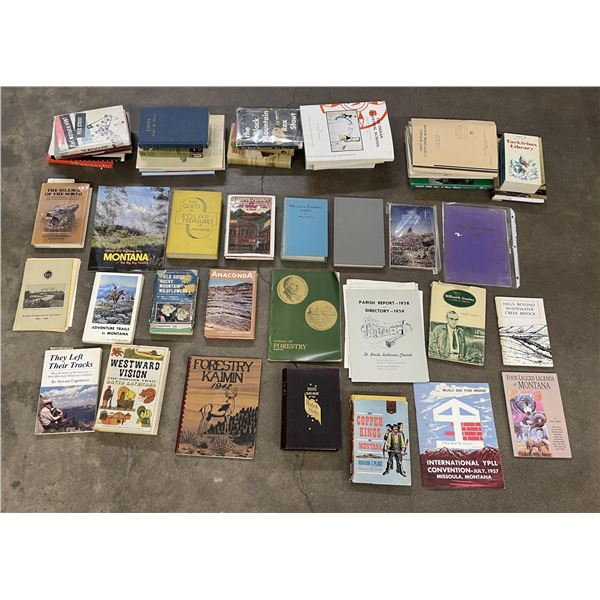 Large Lot of Montana and Western History Books