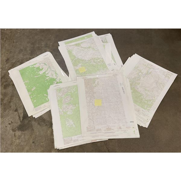 Lot of 152 Montana Topographic Maps