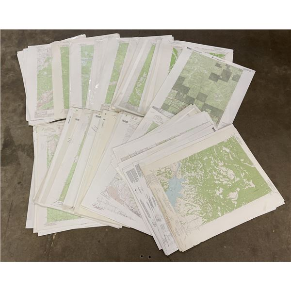 Lot of 150 Montana Topographic Maps
