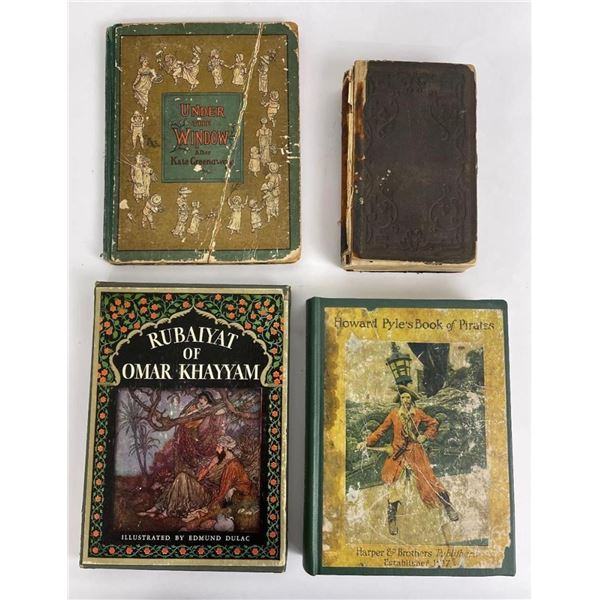 Lot of 4 Antique Children's Books